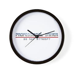 Professional Driver Wall Clock