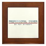 Professional Driver Framed Tile