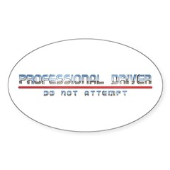 Professional Driver Oval Decal