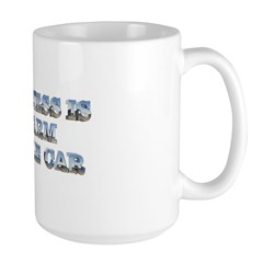 Happiness is a Warm Muscle Car Large Mug