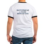 Happiness is a Warm Muscle Car Ringer Tee-Shirt