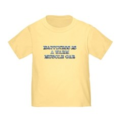 Happiness is a Warm Muscle Car Toddler Tee