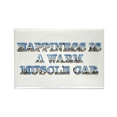 Happiness is a Warm Muscle Car Magnet (10 pack)