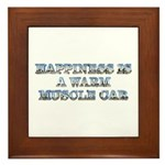 Happiness is a Warm Muscle Car Framed Tile