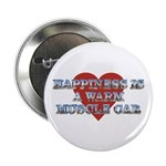 """Happiness is a Musclecar II 2.25"""" Button (10 pack)"""