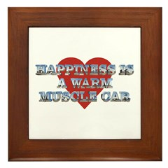 Happiness is a Musclecar II Framed Tile