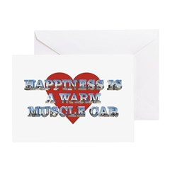 Happiness is a Musclecar II Greeting Card