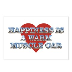 Happiness is a Musclecar II Postcards (8 Pack)