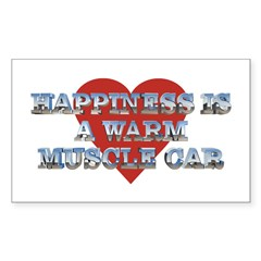 Happiness is a Musclecar II Rectangle Decal