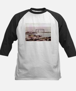 1905 Duluth Harbor and Aerial Kids Baseball Jersey