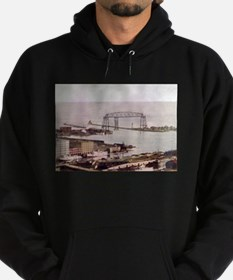 1905 Duluth Harbor and Aerial Hoodie (dark)