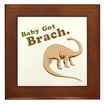 Baby Got Brach Framed Tile