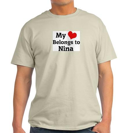 My Heart: Nina Ash Grey T-Shirt