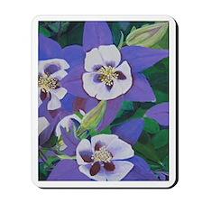 Purple Pansies Painting Mousepad