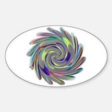 Feather Mandala Oval Decal