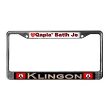Success and Honor, KLINGON - License Plate Frame