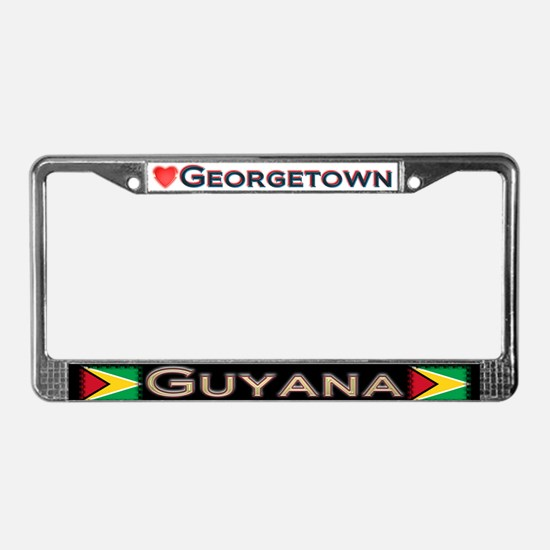 Georgetown, GUYANA - License Plate Frame
