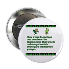 """Irish Sayings, Toasts and Ble 2.25"""" Button (10 pac"""