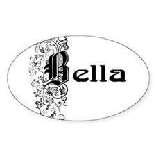 Bella Oval Bumper Stickers