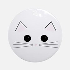 Kitty Face Ornament (Round)