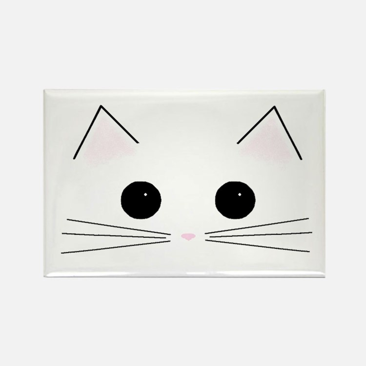 Kitty Face Rectangle Magnet