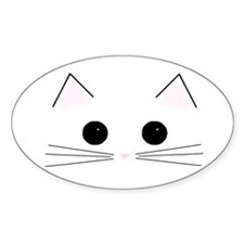 Kitty Face Oval Decal