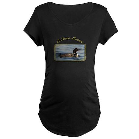 Common Loon Maternity Dark T-Shirt