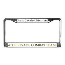 1ST CAV 4BCT License Plate Frame