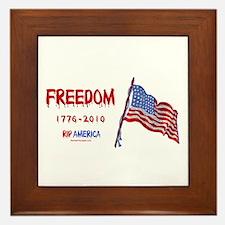RIP Freedom Framed Tile