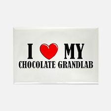 Chocolate Grandlab Rectangle Magnet