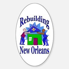 Rebuilding New Orleans Oval Decal