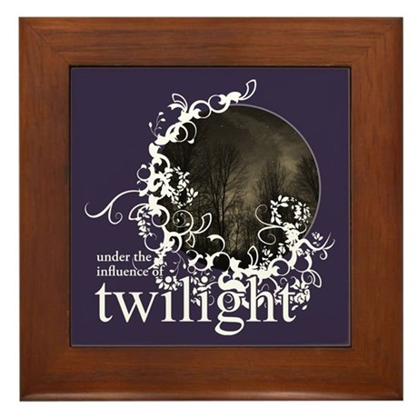Twilight Influence Framed Tile