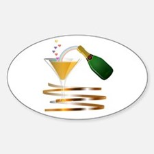 Champagne Party Celebration Decal