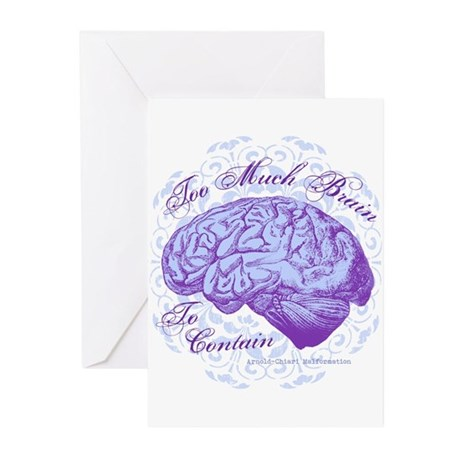 Too Much Brain to Contai Greeting Cards (Pk of 20)