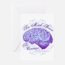 Too Much Brain to Contai Greeting Cards (Pk of 10)