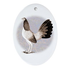 Henny Gamecock Ornament (Oval)