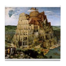 Tower of Babel Tile Coaster