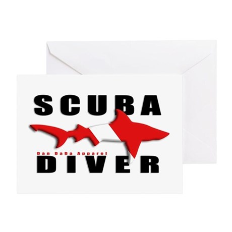 Scuba Diver: SHARK Greeting Card