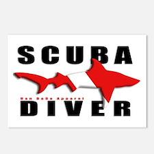 Scuba Diver: SHARK Postcards (Package of 8)
