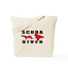 Scuba Diver: SHARK Tote Bag