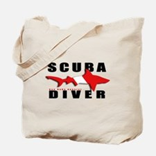 Scuba Diver: SHARK Tote Bag