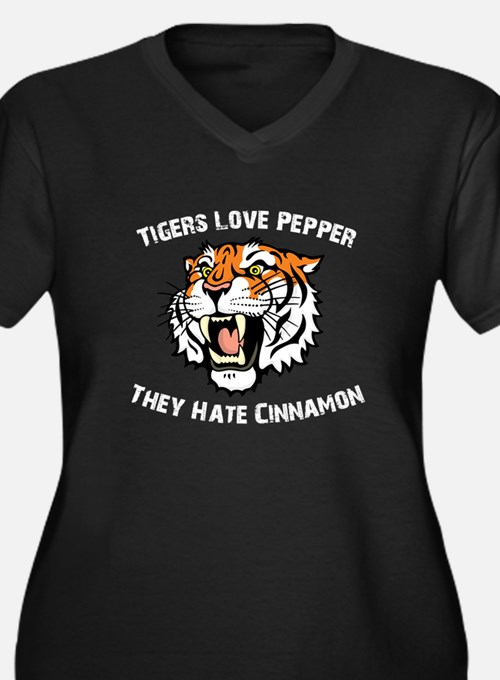 Tigers Love Pepper, They Hate Women's Plus Size V-