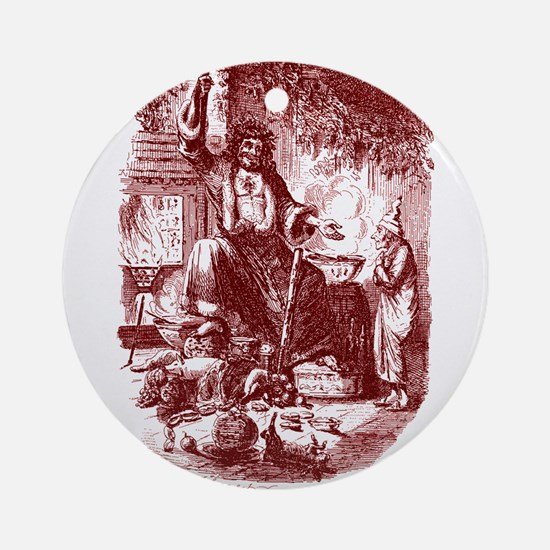 The Ghost of Christmas Presen Ornament (Round)