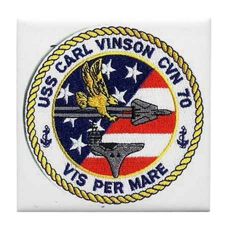 USS Carl Vinson CVN 70 Tile Coaster