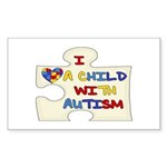 Autism Love Rectangle Sticker 50 pk)