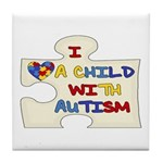 Autism Love Tile Coaster