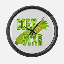 Corn Dog Large Wall Clock
