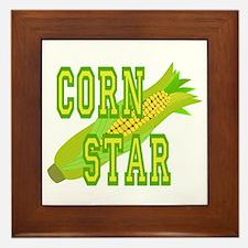 Corn Dog Framed Tile