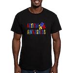 Autism Awareness Men's Fitted T-Shirt (dark)