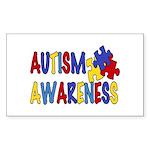 Autism Awareness Rectangle Sticker